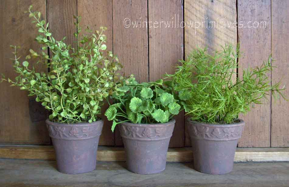 Potted Herbs Set of 3