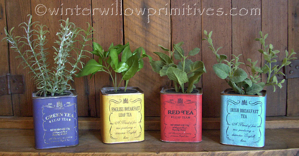 Herbs in Tins Set of 4
