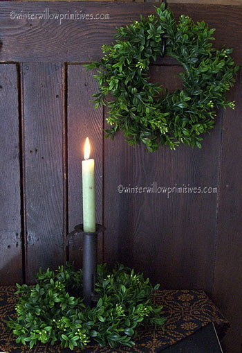 Green Boxwood Wreath/Ring