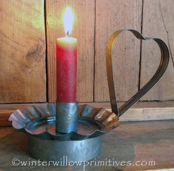 Tin Heart CandleHolder