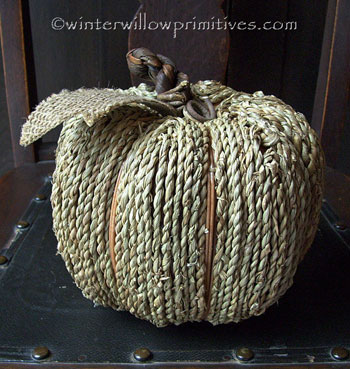 Natural Twine Pumpkin